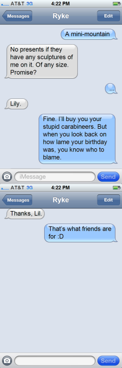 GP - Text Message Lily to Ryke - Part Two
